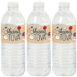 Rosh Hashanah - Jewish New Year Water Bottle Sticker Labels - Set of 20