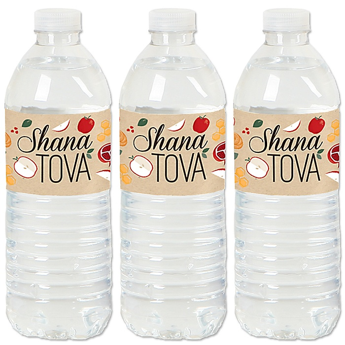 Rosh Hashanah - Jewish New Year Water Bottle Sticker Labels - Set of 20