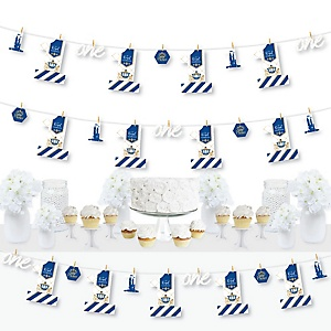 1st Birthday Royal Prince Charming - First Birthday Party DIY Decorations - Clothespin Garland Banner - 44 Pieces