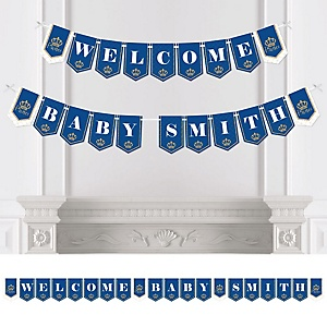 Royal Prince Charming - Personalized Baby Shower Bunting Banner & Decorations