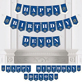 Royal Prince Charming - Birthday Party Bunting Banner - Birthday Party Decorations - Happy Birthday