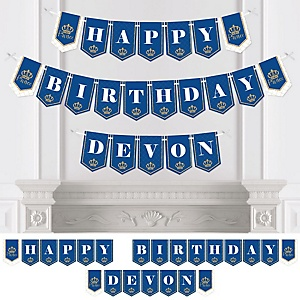 Royal Prince Charming - Birthday Party Bunting Banner - Birthday Party Decorations - Happy Birthday