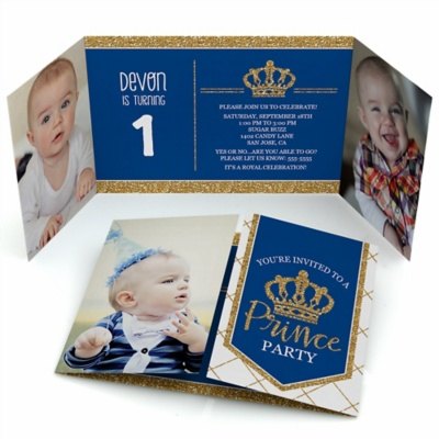 Royal Prince Charming Personalized Birthday Party Photo