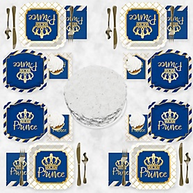 Royal Prince Charming with Gold Foil - Party Tableware