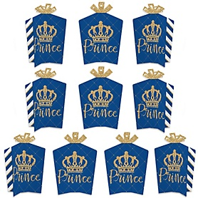 Royal Prince Charming - Table Decorations - Baby Shower or Birthday Party Fold and Flare Centerpieces - 10 Count