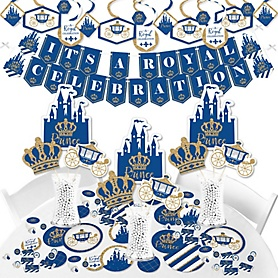 Royal Prince Charming - Baby Shower or Birthday Party Supplies - Banner Decoration Kit - Fundle Bundle