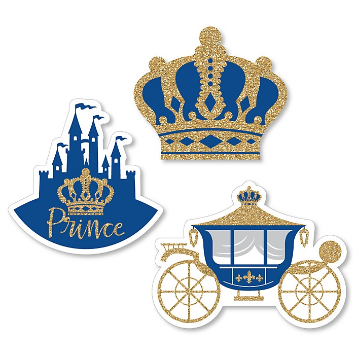 Royal Prince Charming - DIY Shaped Baby Shower or Birthday Party Cut-Outs - 24 ct