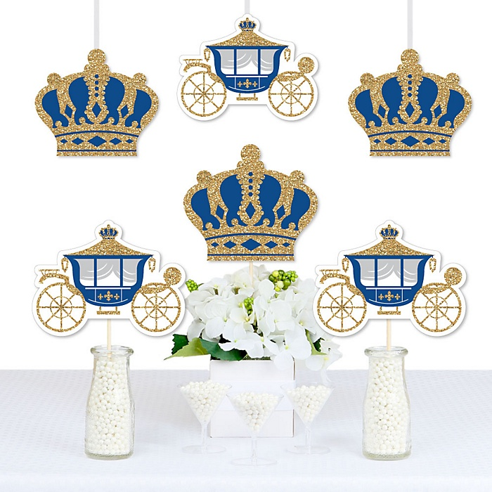 Royal Prince Charming - Decorations DIY  Princes Baby Shower or Birthday Party Essentials - Set of 20