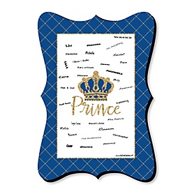 Royal Prince Charming - Unique Alternative Guest Book - Baby Shower or Birthday Party Signature Mat