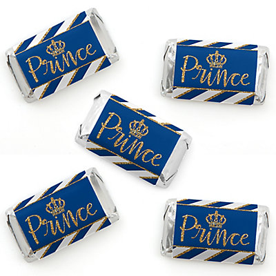 Royal Prince Charming Mini Candy Bar Wrapper Stickers Baby