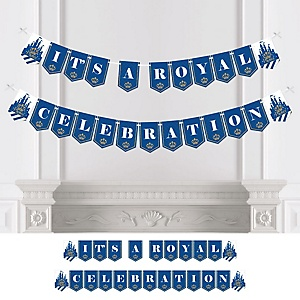 Royal Prince Charming - Baby Shower or Birthday Party Bunting Banner - Party Decorations - It's a Royal Celebration