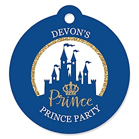 Royal Prince Charming - Personalized Baby Shower or Birthday Party Favor Gift Tags - 20 ct