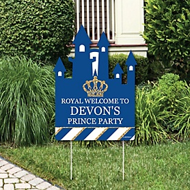 Royal Prince Charming - Party Decorations - Baby Shower or Birthday Party Personalized Welcome Yard Sign