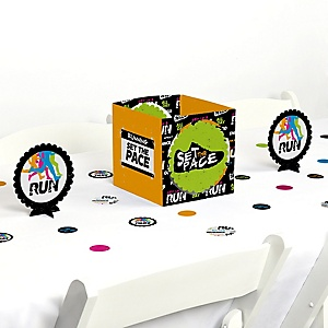 Set The Pace - Running - Track, Cross Country or Marathon Party Centerpiece and Table Decoration Kit