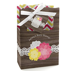 Rustic Floral - Personalized Baby Shower Favor Boxes