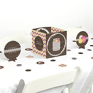 Rustic Floral - Party Centerpiece & Table Decoration Kit