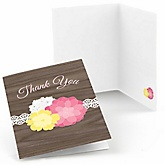 Rustic Floral - Party Thank You Cards - 8 ct