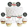 Rustic Merry Friendsmas - Dessert Cupcake Toppers - Friends Christmas Party Clear Treat Picks - Set of 24