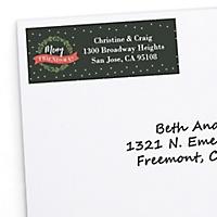 christmas holiday return address labels christmas holiday