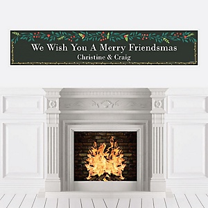 Rustic Merry Friendsmas - Personalized Friends Christmas Banners
