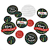 Rustic Merry Friendsmas - Friends Christmas Party Giant Circle Confetti - Party Decorations - Large Confetti 27 Count