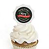 Rustic Merry Friendsmas - Friends Christmas Cupcake Pick and Sticker Kit - 12 ct