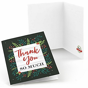 Rustic Merry Friendsmas - Friends Christmas Thank You Cards - Set of 8