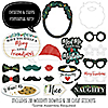 Rustic Merry Friendsmas - 20 Piece Friends Christmas Party Photo Booth Props Kit