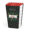 Rustic Merry Friendsmas - Personalized Friends Christmas Party Popcorn Favor Treat Boxes - Set of 12