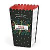 Rustic Merry Friendsmas - Personalized Friends Christmas Party Popcorn Favor Treat Boxes - Set of 12