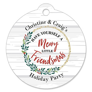 Rustic Merry Friendsmas - Friends Christmas Tags - 20 ct