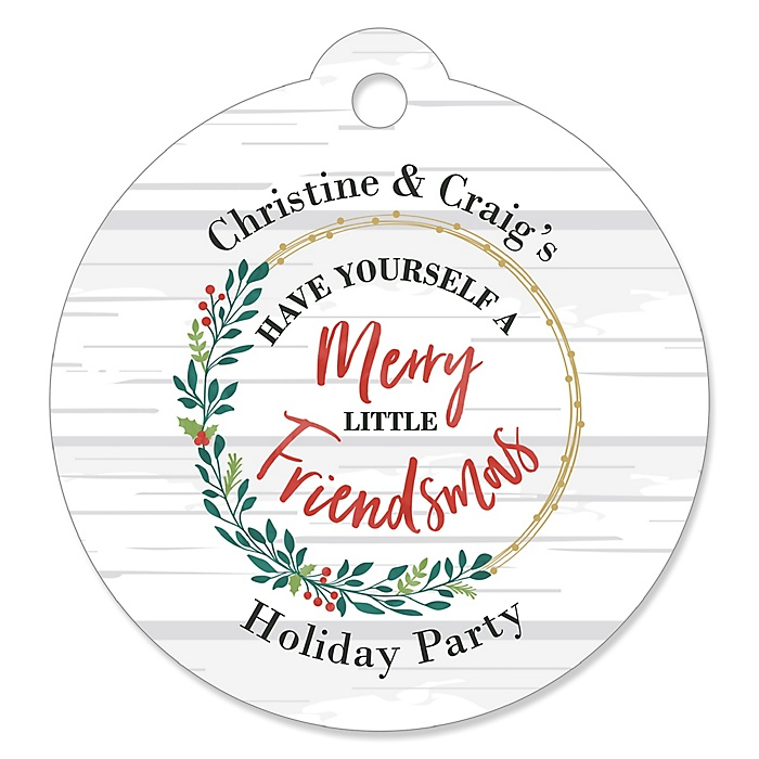 Rustic Merry Friendsmas - Friends Christmas Tags - 20 ct