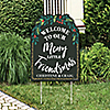 Rustic Merry Friendsmas - Party Decorations - Friends Christmas Party Personalized Welcome Yard Sign