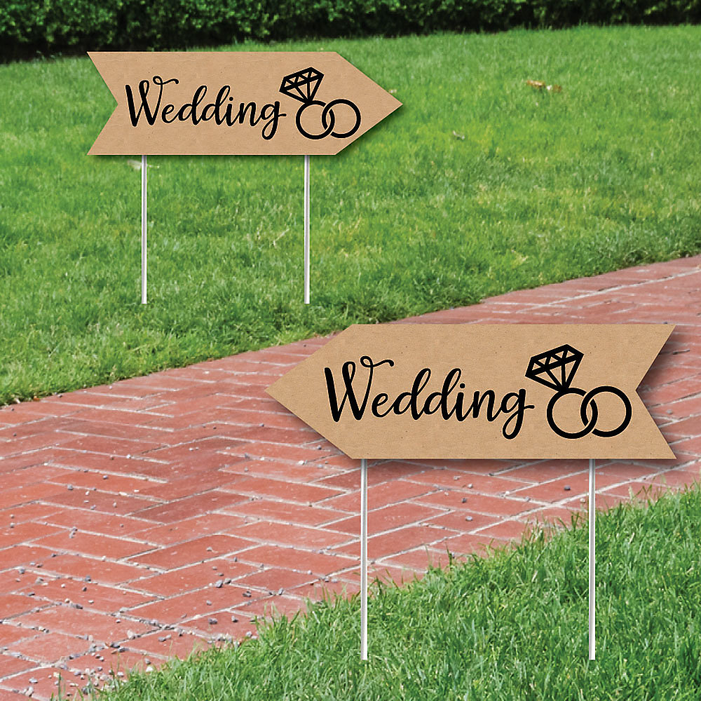 Rustic Wedding Signs.Rustic Wedding Signs Wedding Sign Arrow Double Sided Directional Yard Signs Set Of 2 Wedding Signs