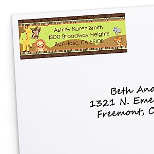 Funfari™ - Fun Safari Jungle - Personalized Baby Shower Return Address Labels - 30 ct