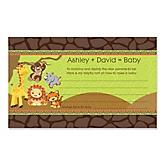 Funfari™ - Fun Safari Jungle - Personalized Baby Shower Helpful Hint Advice Cards - 18 ct.