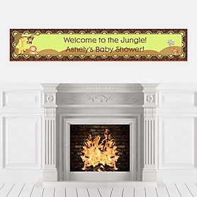 Funfari™ - Fun Safari Jungle - Personalized Baby Shower Banners