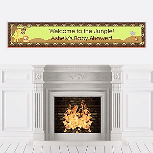 Funfari™ - Fun Safari Jungle - Personalized Baby Shower Banners