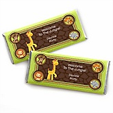 Funfari™ - Fun Safari Jungle - Personalized Baby Shower Candy Bar Wrapper Favors