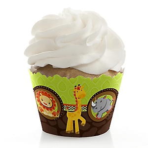 Funfari™ - Fun Safari Jungle - Baby Shower Decorations - Party Cupcake Wrappers - Set of 12