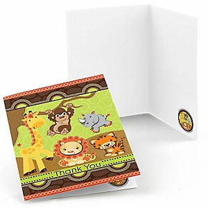 Funfari™ - Fun Safari Jungle - Baby Shower Thank You Cards - 8 ct