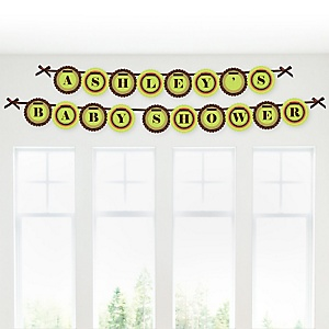 Funfari™ - Fun Safari Jungle - Personalized Baby Shower Garland Letter Banners