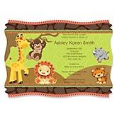 Funfari™ - Fun Safari Jungle - Personalized Baby Shower Invitations