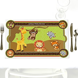 Funfari™ - Fun Safari Jungle - Personalized Baby Shower Placemats