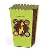 Funfari™ - Fun Safari Jungle - Personalized Party Popcorn Favor Treat Boxes