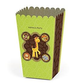 Funfari™ - Fun Safari Jungle - Personalized Party Popcorn Favor Treat Boxes - Set of 12