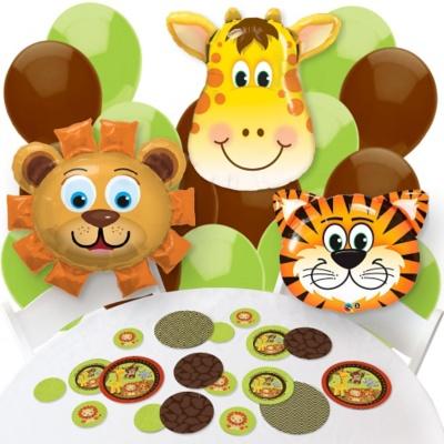 Funfari™ - Fun Safari Jungle - Confetti and Balloon Party Decorations - Combo Kit