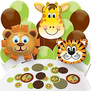 Funfari™ - Fun Safari Jungle - Confetti and Balloon Party Decorations - Combo Kit