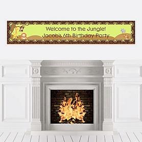 Funfari™ - Fun Safari Jungle - Personalized Birthday Party Banners