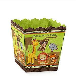 Funfari™ - Fun Safari Jungle - Party Mini Favor Boxes - Personalized Birthday Party Treat Candy Boxes - Set of 12